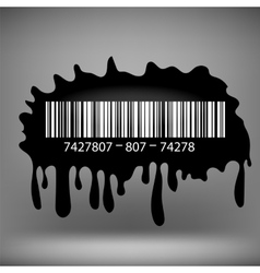 Ink blot with barcode vector