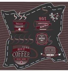 Logo coffee chocolate vector image