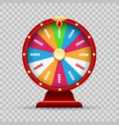 Luck wheel of fortune vector