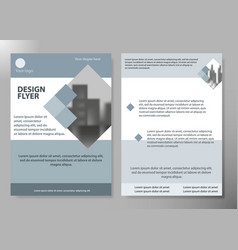 minimal flyers report business magazine poster vector image vector image