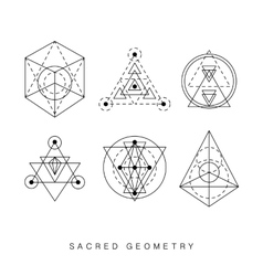 Sacred geometry signs set vector image vector image