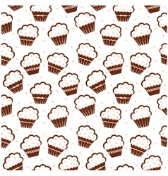 Seamless cupcake pattern vector image vector image