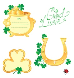 Set of Frames for Saint Patricks day design vector image