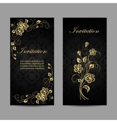 Set of invitation cards design vector image vector image