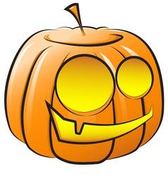smiling pumpkin The symbol of Halloween vector image