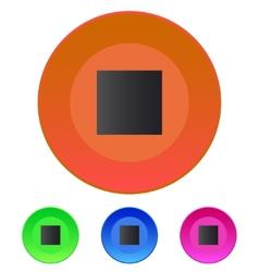Stop track web icon media player vector