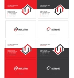 Two houses business card 2 vector