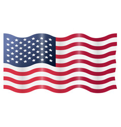 Usa american flag waving vector