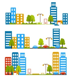 City street flat design housing neighborhood vector