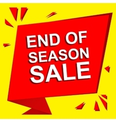 Sale poster with end of season sale text vector