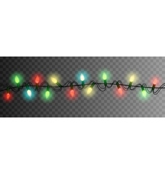 christmas lights luminous garland isolated vector image
