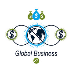 Global business and e-business creative logo vector