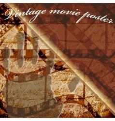 scratched film strip vector image