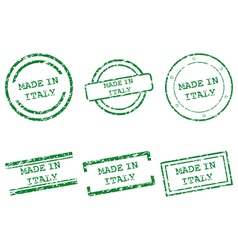 Made in Italy stamps vector image