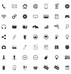 49 different web icons pictogram vector