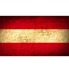 Flags austria with dirty paper texture vector