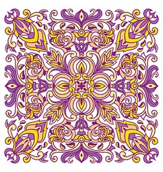 Hand drawing zentangle mandala color element vector