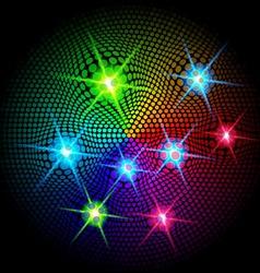 Shiny sparkles on dark vector image