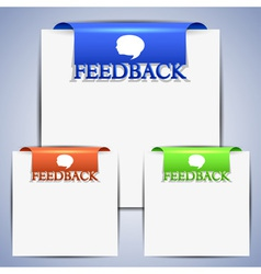 Feedback clipboard vector