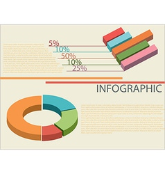 An infographics showing graphs vector
