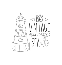 Anchor and lighthouse vintage sea and nautical vector