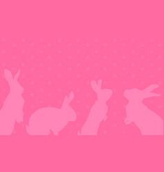 Art of easter bunny greeting card vector