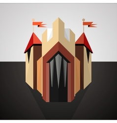 Cartoon castle drawn in perspective Icon vector image vector image