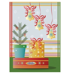 Christmas holidays decorations vector