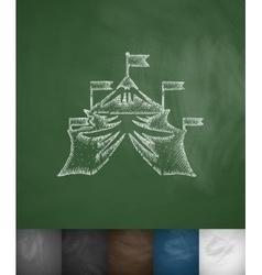 circus icon Hand drawn vector image vector image