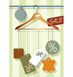 Coat hanger with labels vector