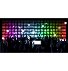 Colorful crowd of party people vector image