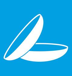 Contact lenses icon white vector