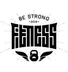 Fitness - original lettering print for t-shirt or vector