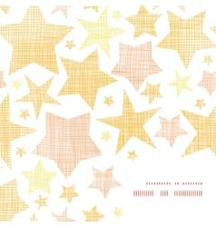 Golden stars textile textured frame corner pattern vector