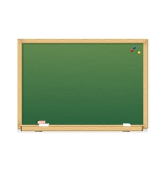 Green chalkboard vector