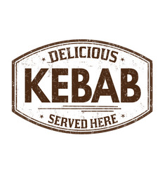 Kebab grunge rubber stamp vector