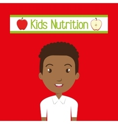 Kids food nutrition healthy vector