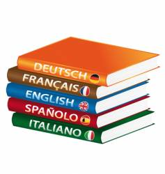 languages manuals vector image vector image