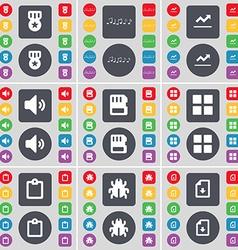 Media note graph sound sim card apps survey bug vector