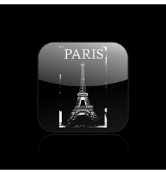 paris icon vector image vector image