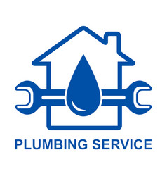 plumbing sign vector image vector image