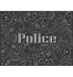 Police chalk vector image