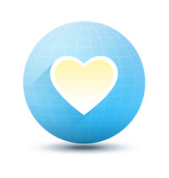 Round icon with heart vector