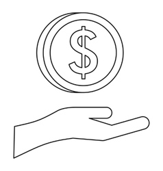 Savings protection icon outline style vector image