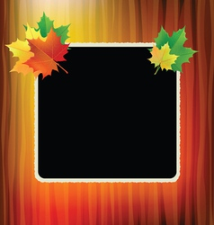 School board with maple leaves in the corners vector