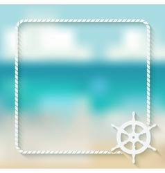steering wheel marine background vector image vector image