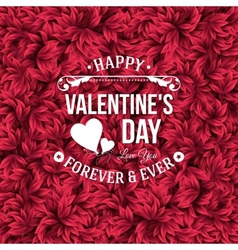 Valentine day typography design Background with vector image vector image