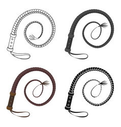 Whip icon in cartoon style isolated on white vector