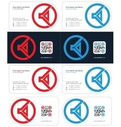 speaker business card 1 vector image