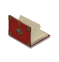 Old book or tutorial isometric flat vector
